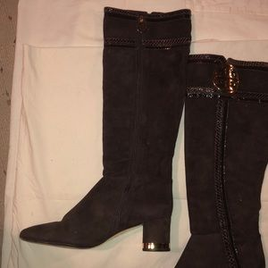 Tory Burch brown Suede Too the knee Boots